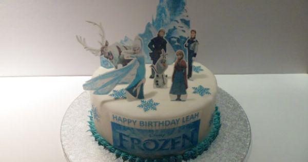 Etsy Frozen Cake Decorations : Disney Frozen Edible Cake Topper 3D Cake Scene ...