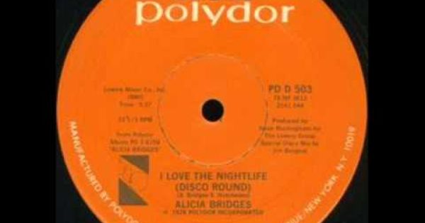 Alicia Bridges I Love The Nightlife 12 Inch Version 1978