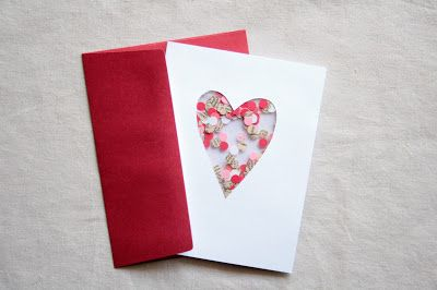 Diy Confetti Valentine Card With Images Diy Valentines