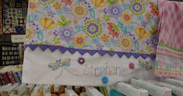Cute pillowcase for little girl,,,,nice stitching | Sewing ...