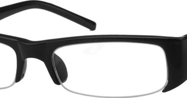 Hipster Glasses Zenni Optical : Stylish Plastic Half-Rim Frame 229821