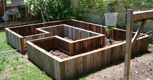 Sweet layout for raised bed and nicely suited to install for Unusual raised garden bed designs