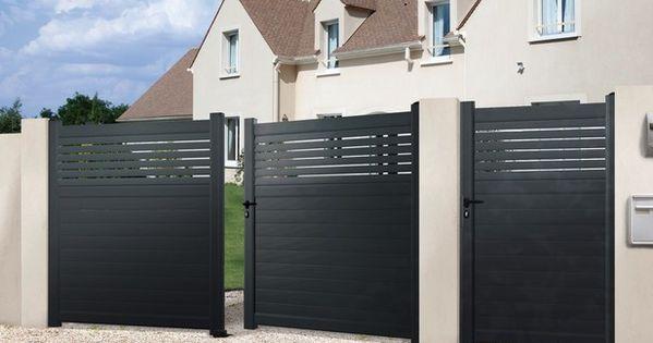 Portail Aluminium Battant Vento Haut 1 60 M Brico Depot Portail Aluminium Battant Portail Battant Alu Portail Aluminium