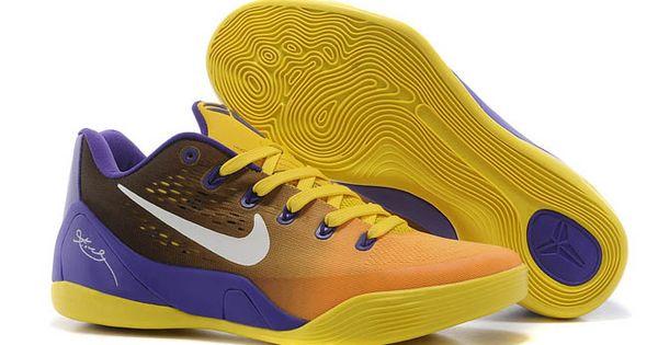 Nehmen Billig Billig Lila Weiß Gelb Schuhe Niedrig Deal Nike Kobe 9 Em lakers Gradient Pe Court