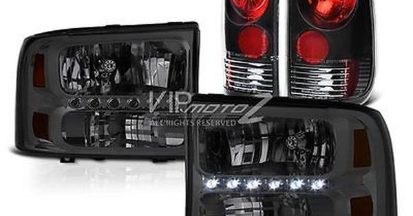 99 04 Ford Superduty Crystal Headlights Rear Signal Brake Lights Third Cargo Led Led Tail Lights Ford Ford F250