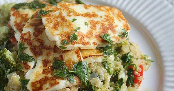 Grilled halloumi, Quinoa salad and Quinoa on Pinterest
