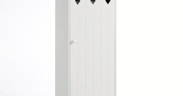 Armoire 1 porte en mdf laqu noa la redoute interieurs for Armoire chambre parents