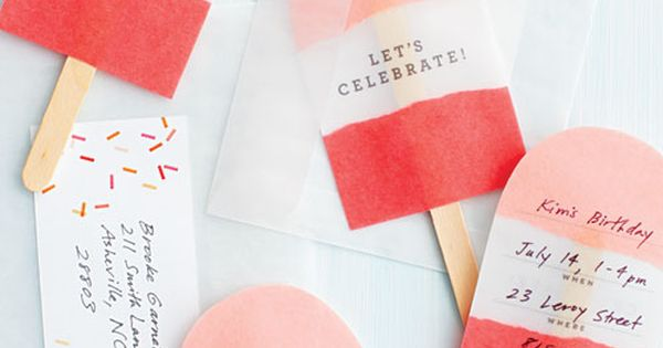 Summer birthday party invites. Great easy idea.