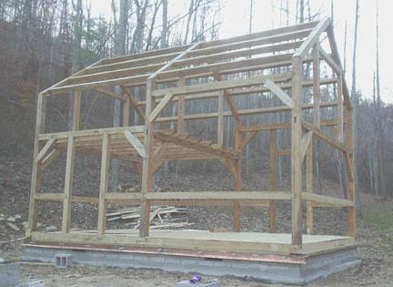 Timber Frame Store 16x 24 With A 12x16 Loft Roof 9 12