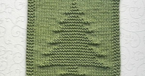 Knitting Pattern Dishcloth Christmas Tree : PINE TREE Knit Dishcloth. Hand Knitted Unique by AuntSusansCloset, USD6.50 Kn...