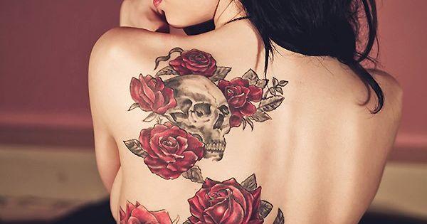 Back Tattoo Ideas Roses