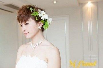 可愛い保証 花嫁ヘアアレンジはスタイル別で自分に合うものを 結婚式 ショート 結婚式ショートヘア ブライダル 髪型