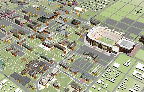Oklahoma State Campus Map Oklahoma State University Campus Maps | Digital signage, Digital