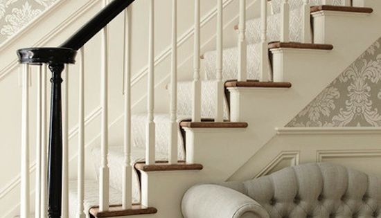 Foyer Stairs Quotes : Perfect stairs runner painted rail stencil