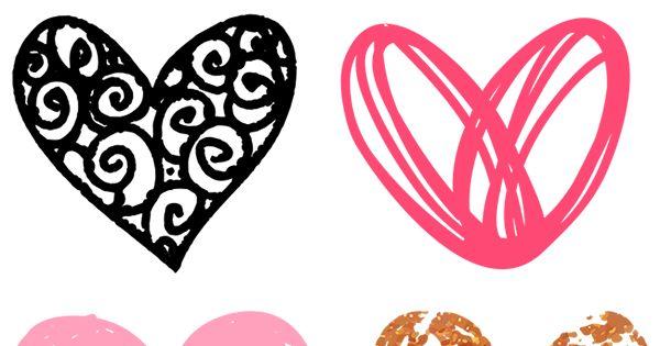 Free Doodle Heart Clip Art | Clip art, Doodles and Heart