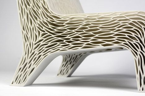 Biomimicry 3d Printed Soft Seat By Lilian Van Daal 3d Printed Furniture Printed Chair Bionic Design