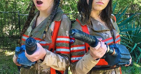 Slime challenge ghost busters inspired brooklyn and bailey