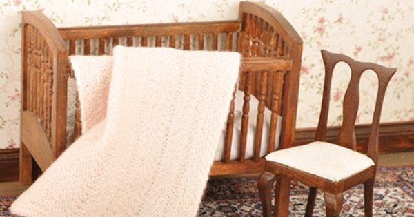 Knit an Afghan blanket - Dolls House Magazine - Crafts Institute Mini-Madne...