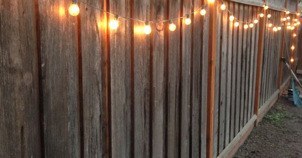 String Lights On Fence : DIY backyard lighting. Hang lights on your fence! Backyard Ideas Pinterest Gardens, String ...