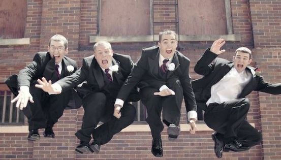 Great wedding photo idea! bridal party maids of honor groomsmen