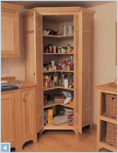Corner Larder Cabinet Google Search Corner Kitchen Pantry Corner Pantry Kitchen Layout