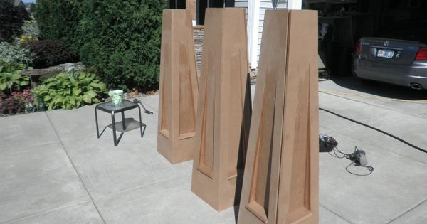 Tapered columns tapered columns pinterest porch for Tapered craftsman porch columns