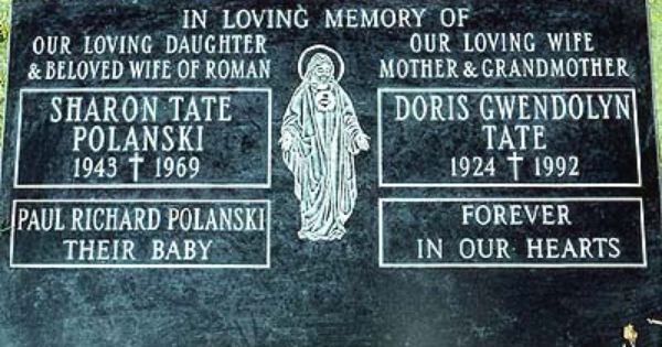 Grave Of Sharon Tate Polanski 1943 1969 And Her Unborn