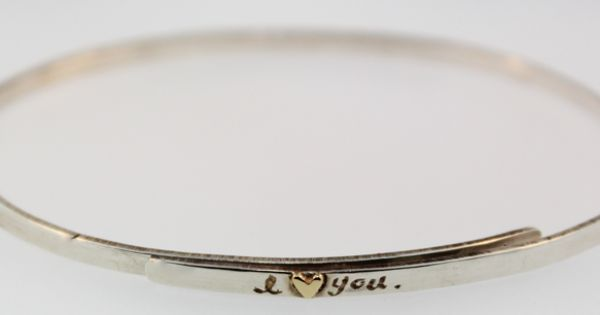 I Love You Bangle - What a sweet & simple gift!