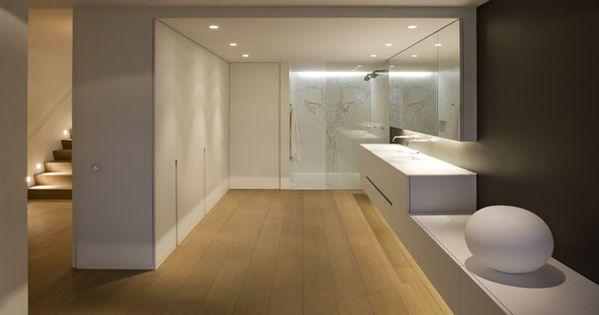 Open badkamer met dressing en doorlopend badkamermeubel leuke design badkamer aan de hand van - Ontwerp nordique ...