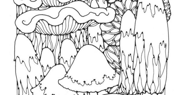 trippy coloring pages mushrooms nutrition - photo#38