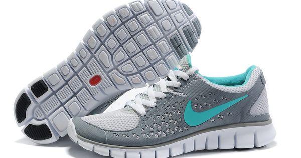 Nike Free Run Womens Gray Navy | shoes | Pinterest