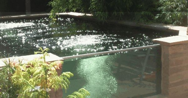Raised koi pond with window deck and outdoor for Koi pond deck