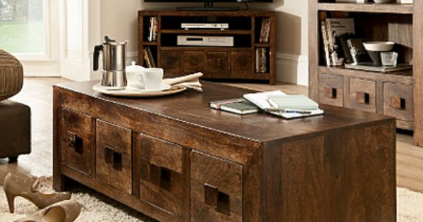 Goa Coffee Table 4 Drawer And Drawers