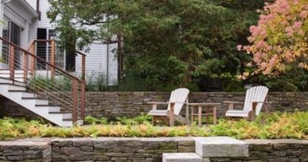 Farlow Hill Residence Garden Stairs Landscaping On A Hill Landscape Design