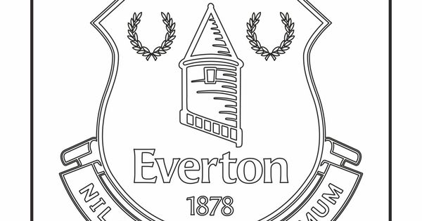 Everton F C Logo Coloring Coloring Page With Everton F