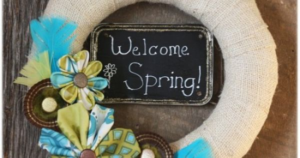 30 great Spring Wreath and Mantel Ideas!