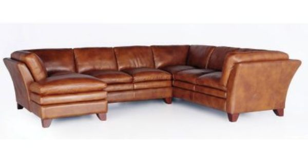 Quot Sierra Camel Quot Leather 3 Piece Sectional Sectionals