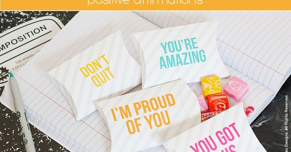 lunchbox free printable pillow box. great idea for the first week of