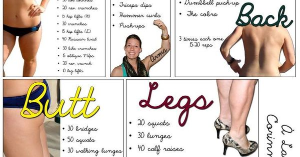 All body parts quick workout sheet | Fitness | Pinterest ...