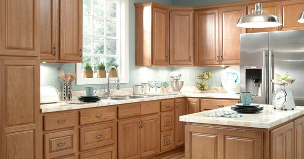 wall to wall kitchen cabinets kitchen remodel with oak cabinets and gray wall paint 28110