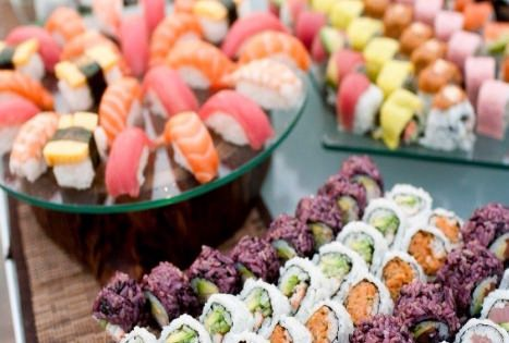 Sushi Bar. DIY wedding planner with di wedding ideas and tips including