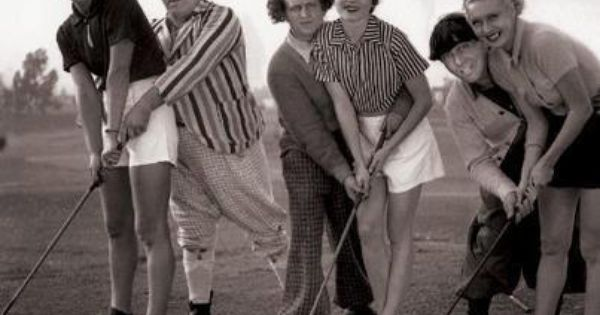 Among The Women Appearing In The Three Stooges Shorts Was Althea Henley Born Althea Heinley Here Next To Curly In Th The Three Stooges Play Golf The Stooges