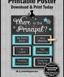 Principal Appreciation Gifts End Of The Year Thank You School Office Decor School Counselor Door Sign Principal Office Decor
