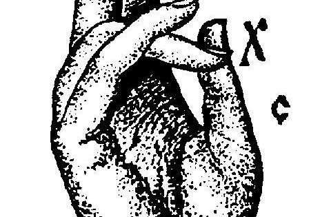 the hand gesture of blessing is also a kind of sign