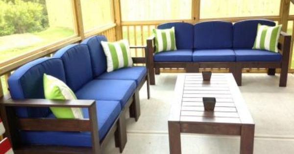 Simple Outdoor Sectional Do It Yourself Home Projects