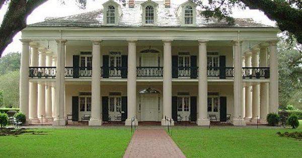 Southern Plantation Home Columns Porches Shutters