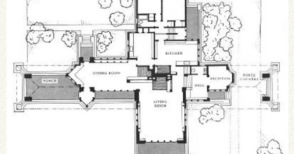 Plan ward w willits house 1901 highland park illinois for Frank lloyd wright prairie style house plans