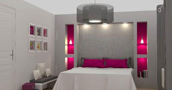 Chambre grise et framboise d co maison pinterest for Personnaliser sa chambre