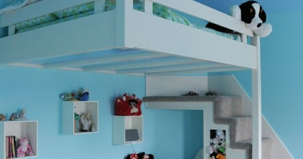 gem tliche kinderzimmer einrichtung in t rkis und mit hochbett hochebene hochbett pinterest. Black Bedroom Furniture Sets. Home Design Ideas