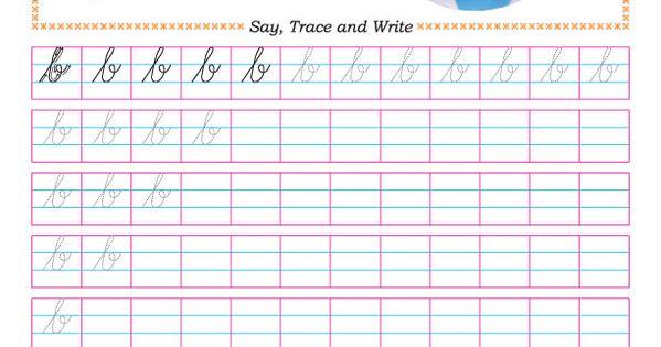Cursive small letter b practice worksheet : Handwriting ...